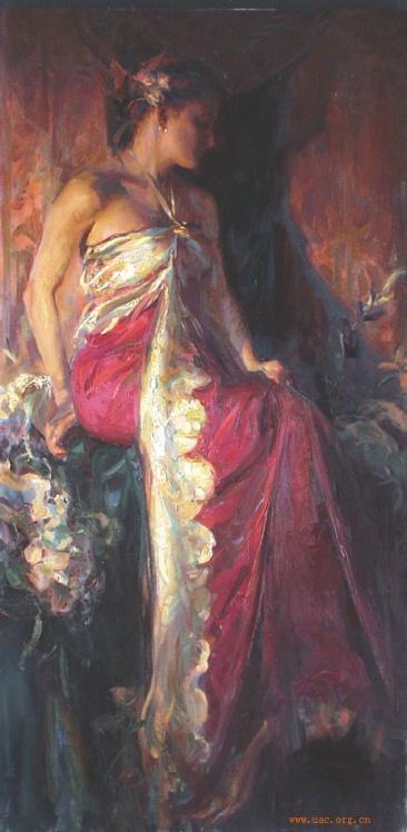 美少女—美丽的光与色(原创) - 粉画家吴锡安(亚亚) - 粉画家吴锡安(亚亚)
