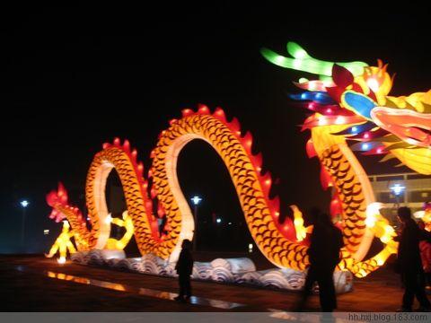 观洪湖灯展 - hh.hxj - 心情驿站