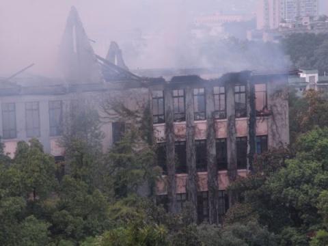 """8月5日 火毁""""第一楼"""",举校惜痛 - 西大人 - 西大人"""