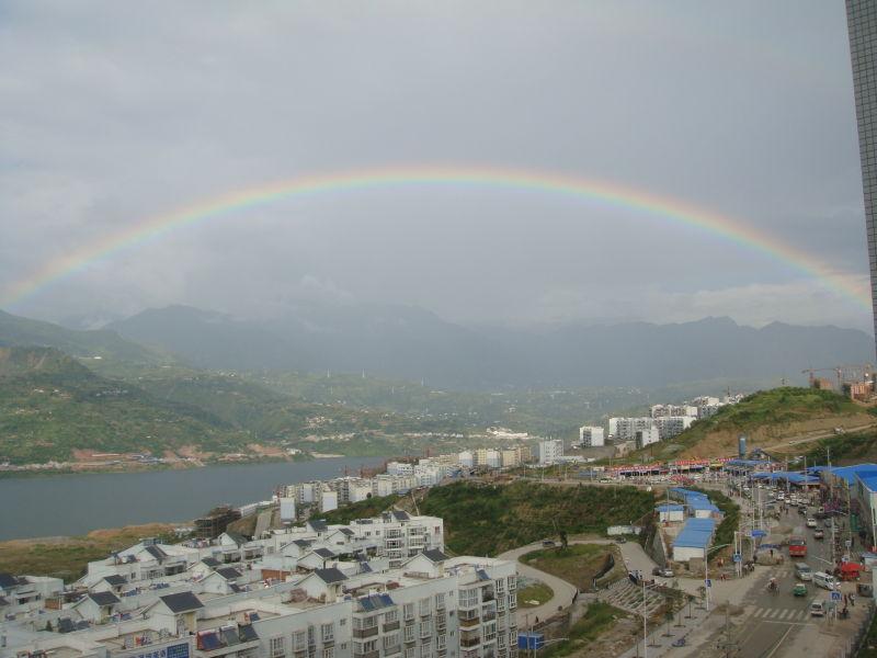 秋雨过后有彩虹 - 拥抱明月 - 拥抱明月博客