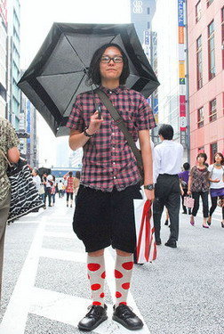 凉鞋穿袜子的日系潮人 - 暖暖 - 最好的时光