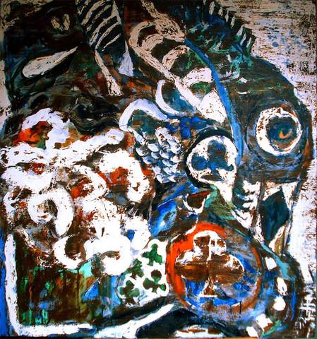 油画《与鱼喻NO.1》完成 - 会笑的蜻蜓 - 会笑的蜻蜓