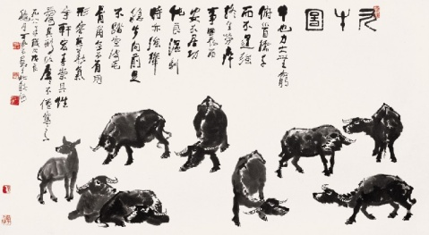 孙大光与李可染的《九牛图》 - 罗会祥 - 罗会祥网友不易