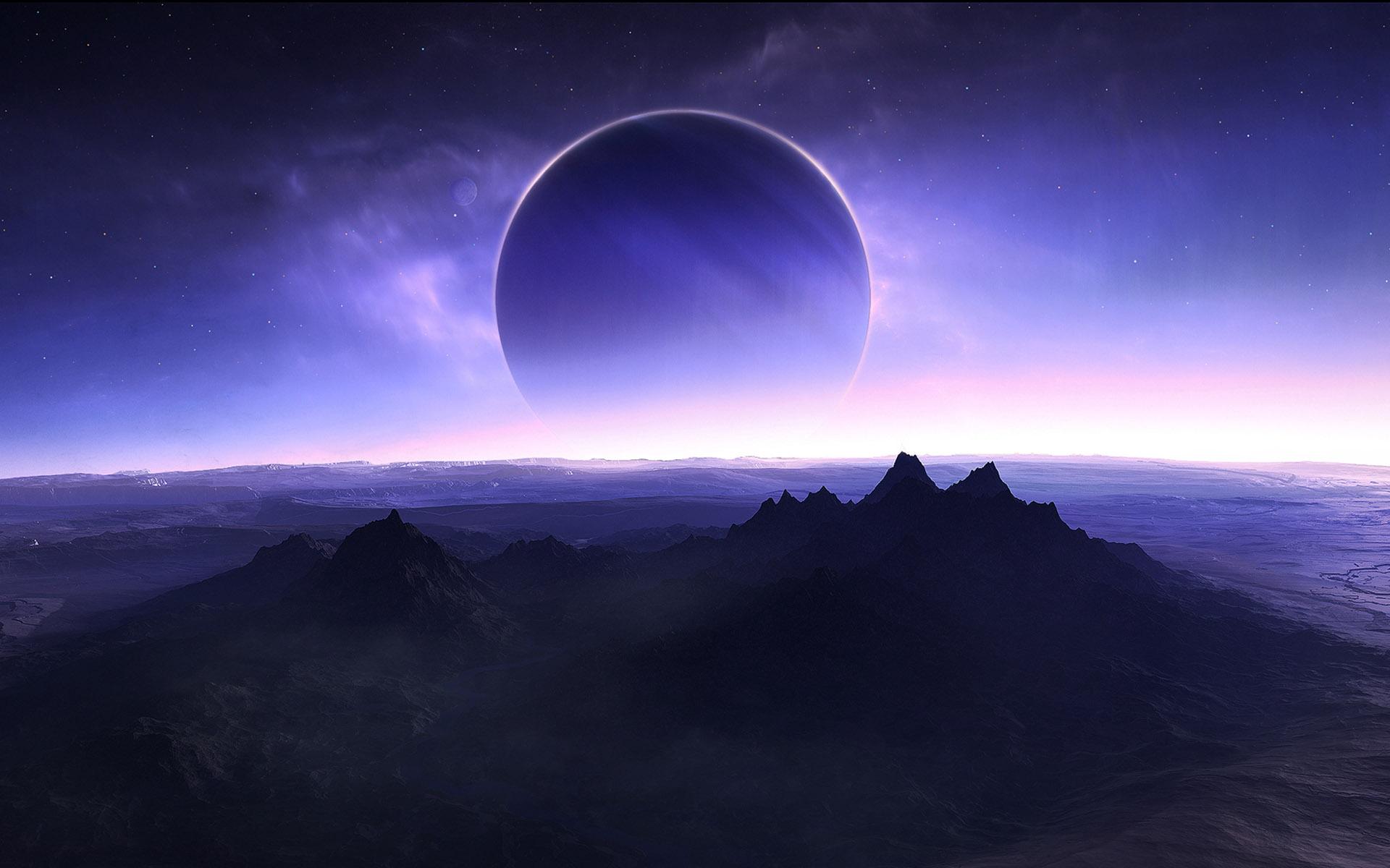 视觉大餐-美丽的宇宙星空(超宽幅) - 沉默是金 -   沉默是金de家园