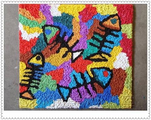 七彩阳光美术工作室08年5月纸浆画作品欣赏(其他) - 七彩阳光美术工作室 -