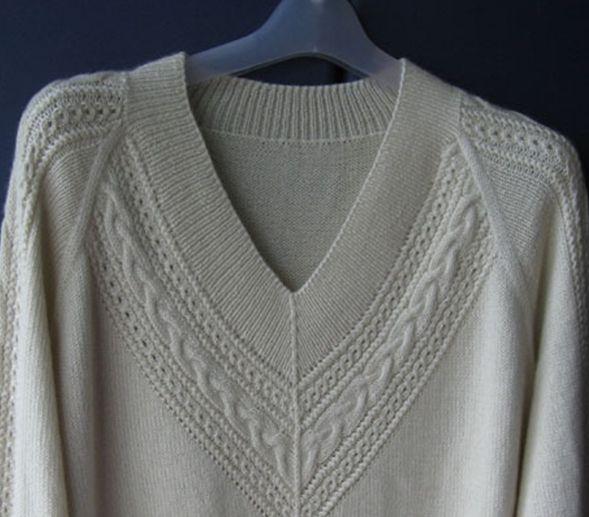 从上往下织的V领毛衣,转编织论坛 - 梅兰竹菊 - 梅兰竹菊的博客