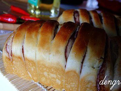 假期烘焙作品(四)---豆沙小土司 - 可可西里 - 可可西里