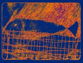 有鱼--版画 - foooo - 会笑的蜻蜓