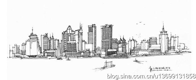上海环球金融中心手绘