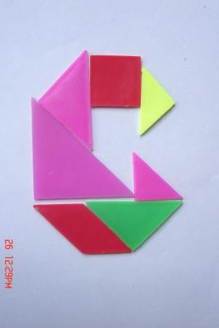 (原创)认识图形的课后延伸——拼七巧板图片