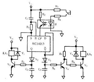采用如图4电路来实现引弧后自动切断高频脉冲的目的