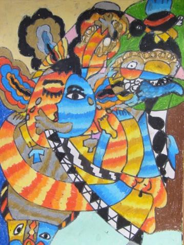 毕加索抽象画作品