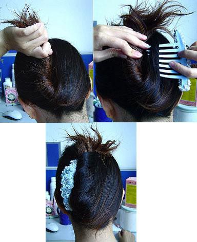 女士扎头发方式(十四)! - 知己难求 - jlsplslzq 的博客