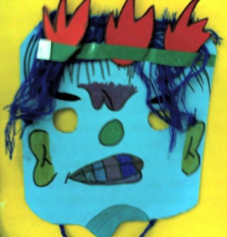 中年级 手工作品 有表情的面具