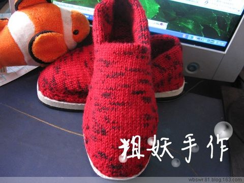 冬天的鞋子 - 粗妖 - 爱编织的妖妖