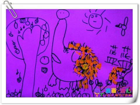童画童心08秋季小小B班美术活动12——小刺猬背果果 - 童画-童心儿童美术 - 童画-童心儿童美术