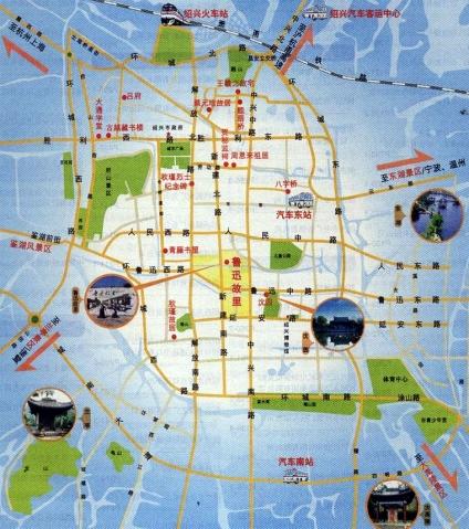 鲁迅故里景区地图
