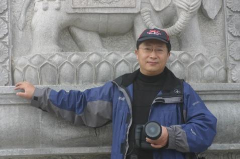 青岛画家宋诚2009年正月初三崂山华严寺采风照片 - 宋诚 - 山东青岛书画家宋诚
