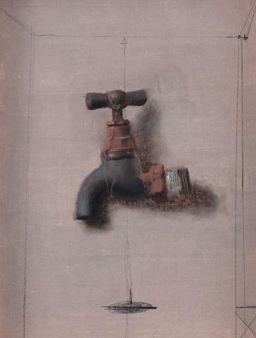 画家冷军一年只画一幅油画 - 清水玲子 - 婧·的艺术空间