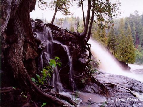 瀑布+黑色背景图 - 周三博 - 周三博家园