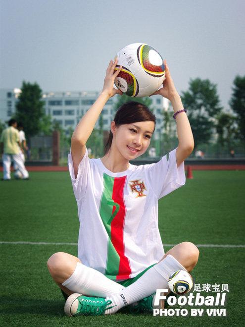 2010南非世界杯足球宝贝图片欣赏 - 几度夕阳红 -