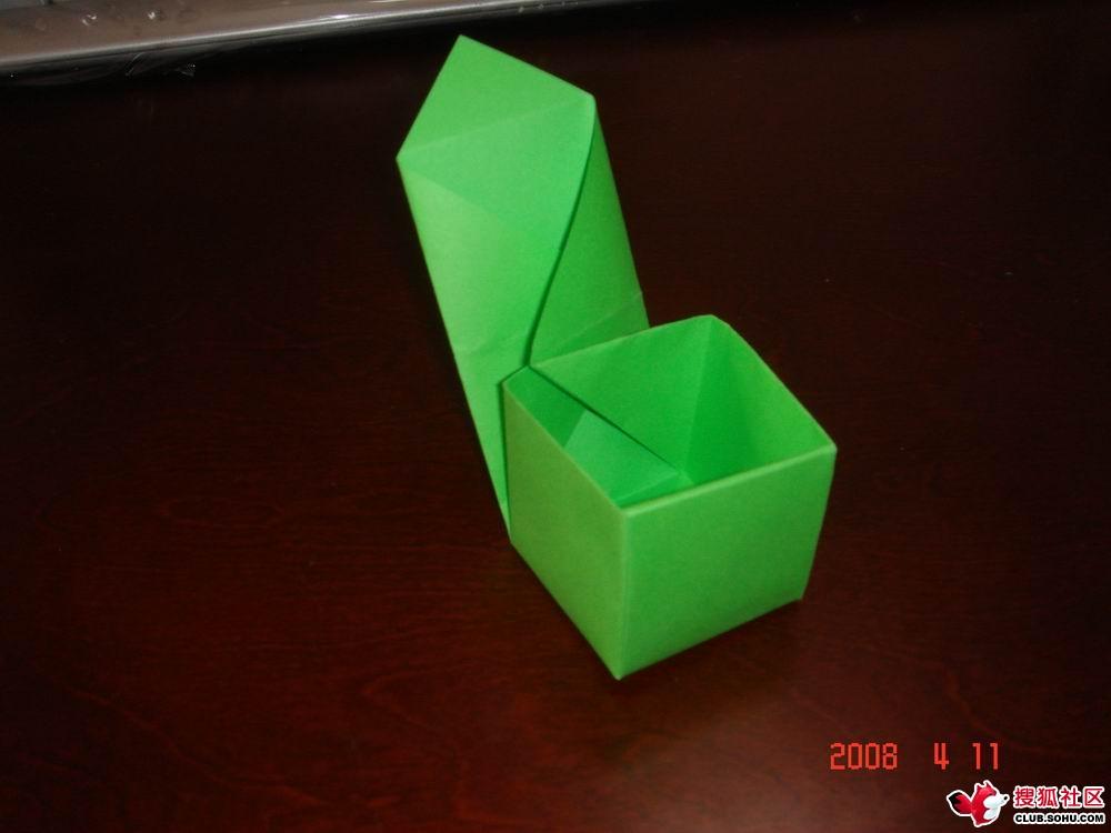 正方形纸盒,立体雪花