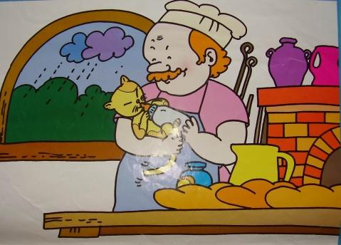 小老鼠啃面包 卡通