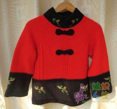 仿唐装毛衣编织方法 - 芙蓉 - 芙蓉的博客