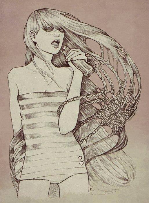 Martine Johanna的插画作品 - 琼琼 - 荒誕の都