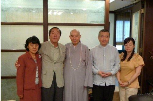 江本胜与林显宗老师拜访净空法师