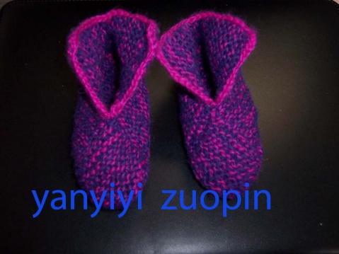 毛线编织的鞋子(2)------8块方块组成的鞋子 - 文如 - 文如