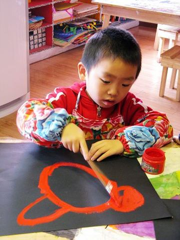 童画童心08秋季小小A美术活动9——狮爸爸,长头发 - 童画-童心儿童美术 - 童画-童心儿童美术