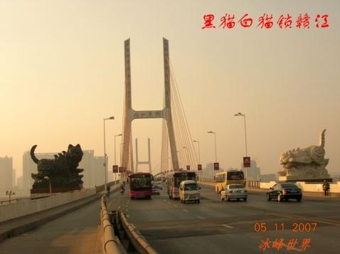 [原创]游览南昌新八一大桥——黑猫白猫锁赣江 - 冰峰 - 冰峰的博客