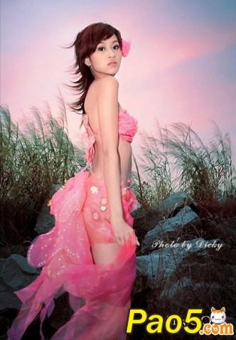 天仙MM粉红写真  - 绿微翡翠 - 翡翠绿莲