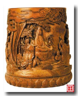 竹雕欣赏 - 平安如意 - 欢迎您的光临