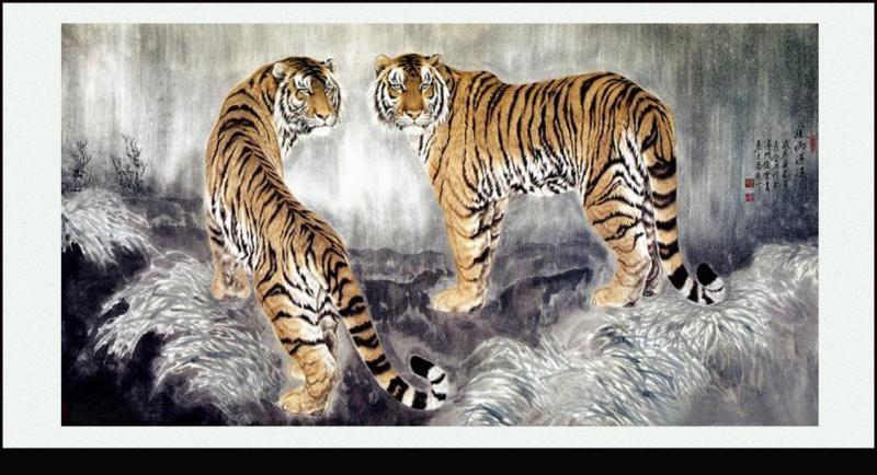 画虎名家王筌力的工笔虎欣赏 - tlll2010 - tlll2010 的博客