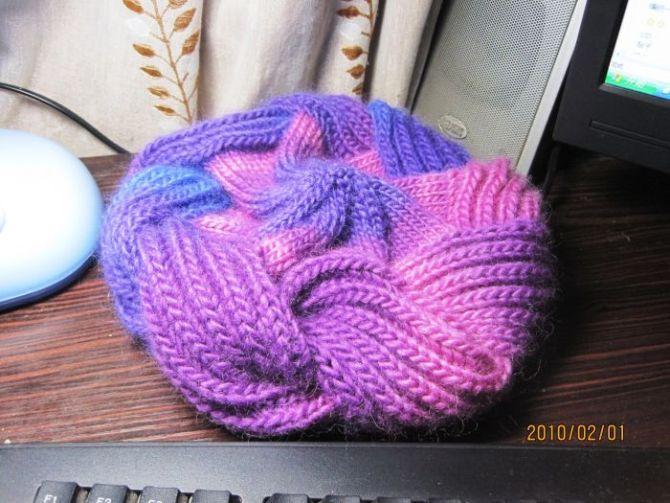 螺旋帽子编织方法