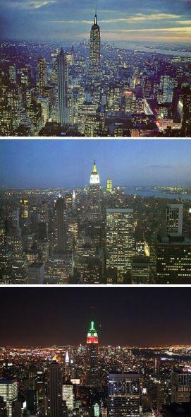 美国纽约——1954年、1985年和2009年