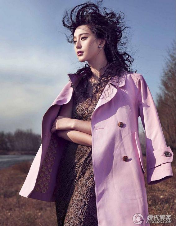 范冰冰登时尚杂志封面