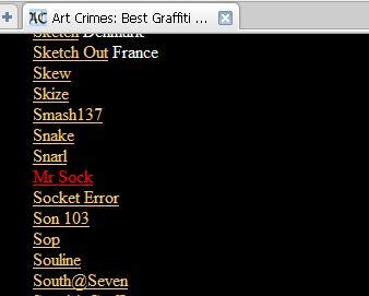 [Art Crimes] - Mr Sock -