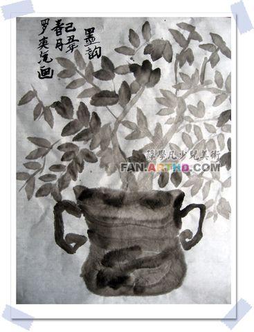 09年新年第一周-国画班水墨训练  - 夜路煞冷 - 薛学凡少儿美术