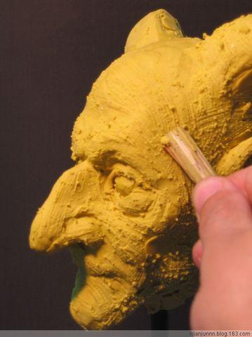 【引用】人物雕塑(手办油泥)创作步骤实例教案 - 一片蓝天 - 绘蓝天