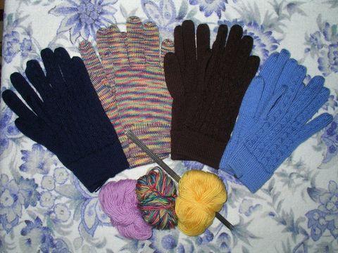 绒线手套的编织方法 - 烟雨蒙蒙 - 烟雨蒙蒙的博客