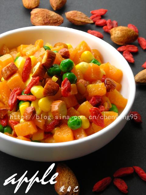 给熬夜一族的21道美容小菜:杏仁枸杞炒杂蔬 - 可可西里 - 可可西里