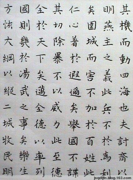 (原创)鹤城硬笔书法  《乐毅论》  楷书 - qd鹤城 - QD鹤城的博客