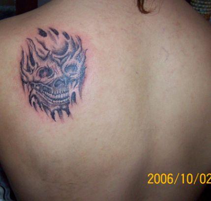 ⑨鬼首和人物的图片 - 金凤堂纹身 - 纹身价格 纹身图案 北京金凤堂