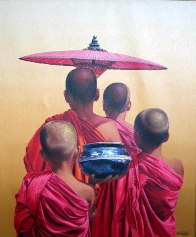 缅甸出家人画 - taunggyi - taunggyi的博客