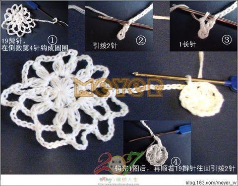 编织人生论坛参赛作品之三-淡雅的白材料(转媚儿的) - 燕子 -