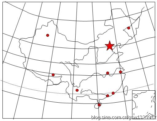 技巧1:熟记中国经纬度