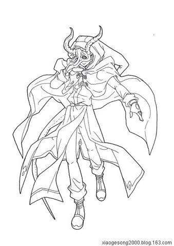 盖亚冥想曲漫画版-红骑士·白法师和时之守望者人设线稿 - 青鸟加小丕 - 青鸟和小丕的秘密基地